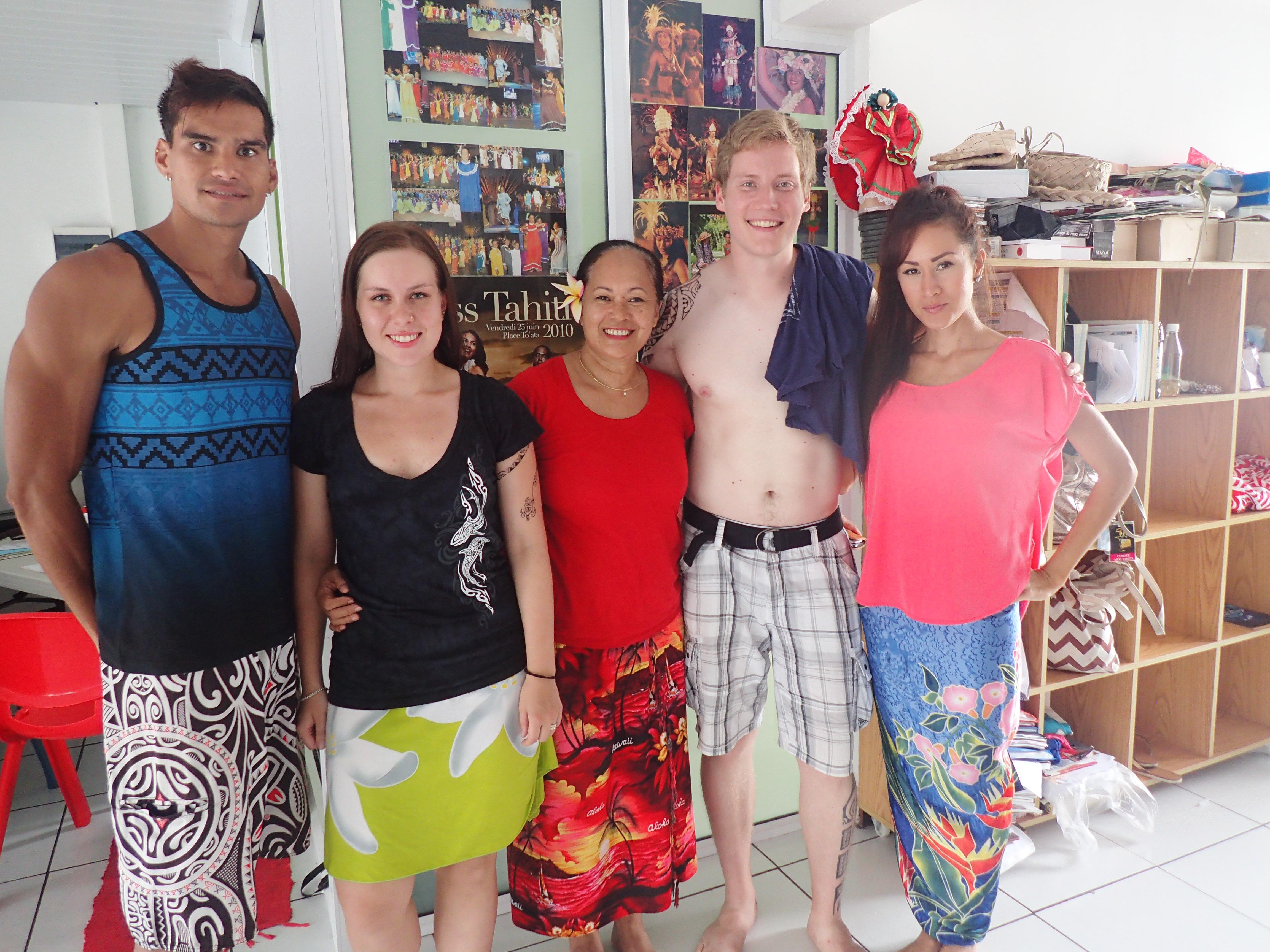 Me ja opettajamme Tahaki, Makau ja Kohai